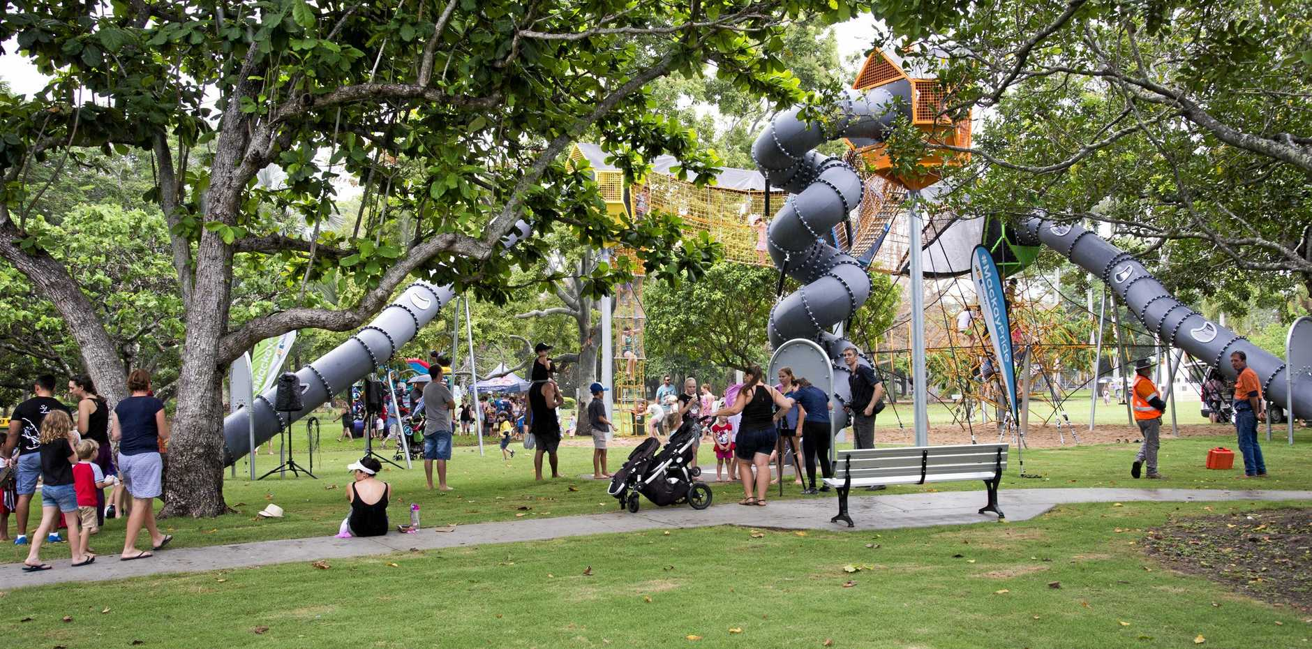 The adventure playground at Queens Park is considered to be on a par with that of Brisbane's Southbank Parkland.
