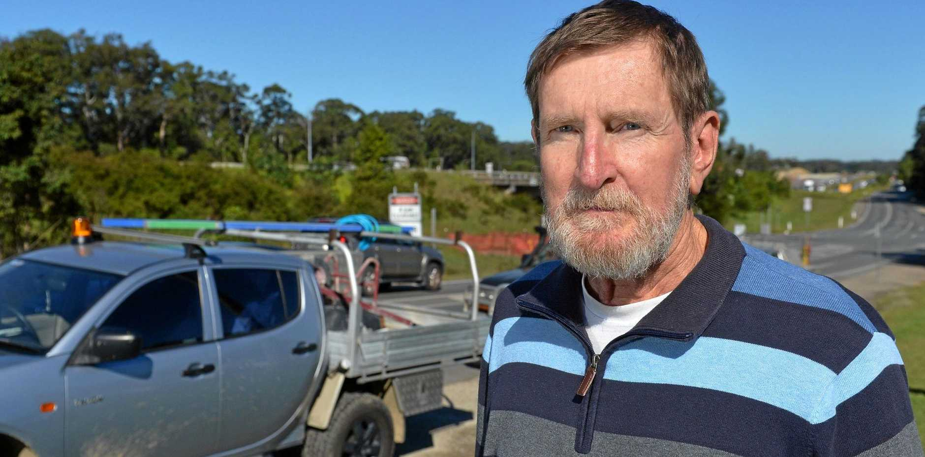 TRAFFIC: Peter Conway says roadworks might cause delays in the short-term the six-lane Bruce Hwy upgrade will be worth it.