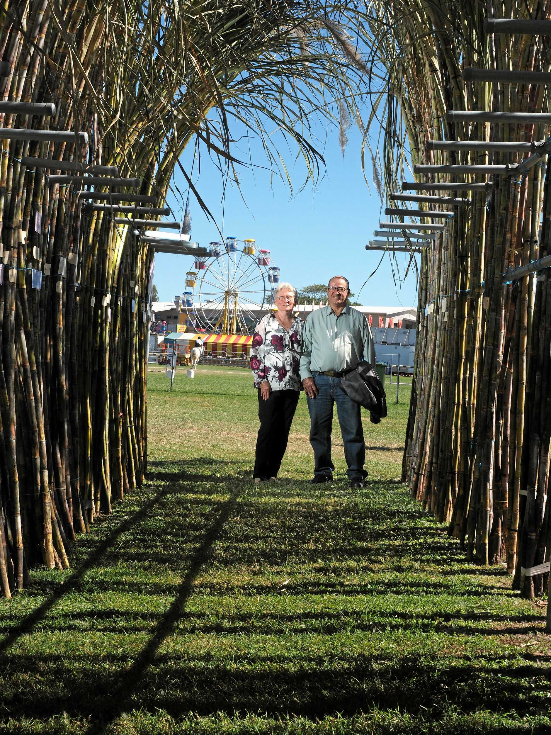 Former Coningsby cane growers Carol and Jim Hamilton at the Mackay Show 2019.