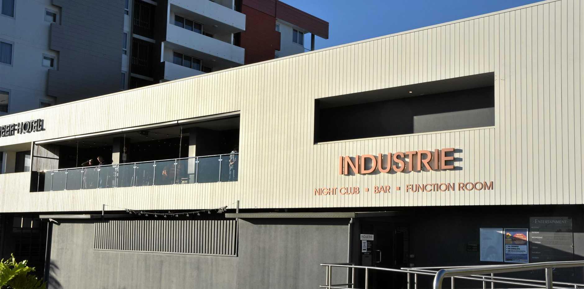 LAST DRINKS: Industrie Nightclub, Goondoon St Gladstone will close its doors tonight. (INSET) MIePLACE owner Aodhan McCann.