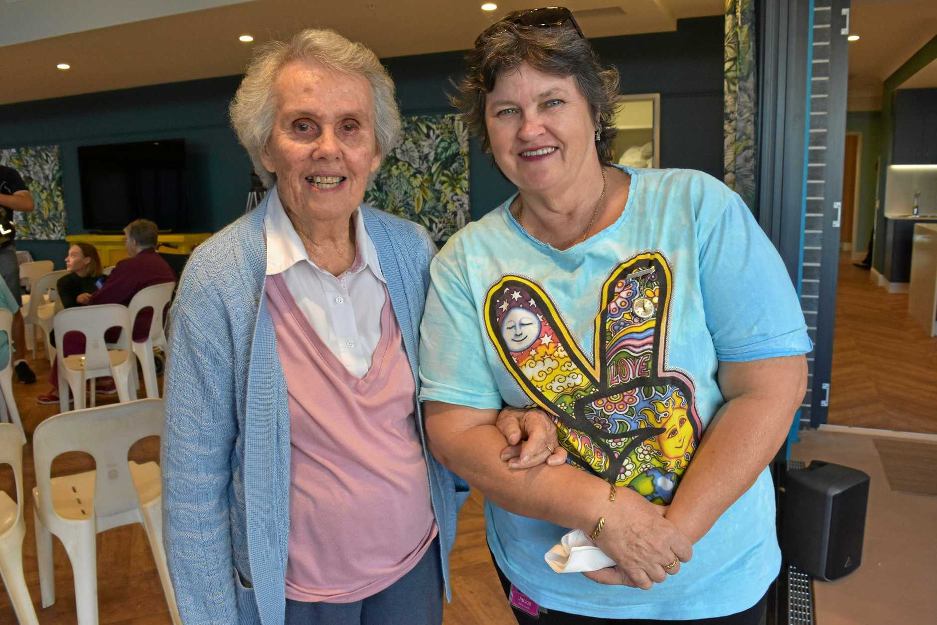 Val Scott will be moving into the new Jacaranda Wing building and Janice Hasthorpe (works at Allied Health at Cooinda)