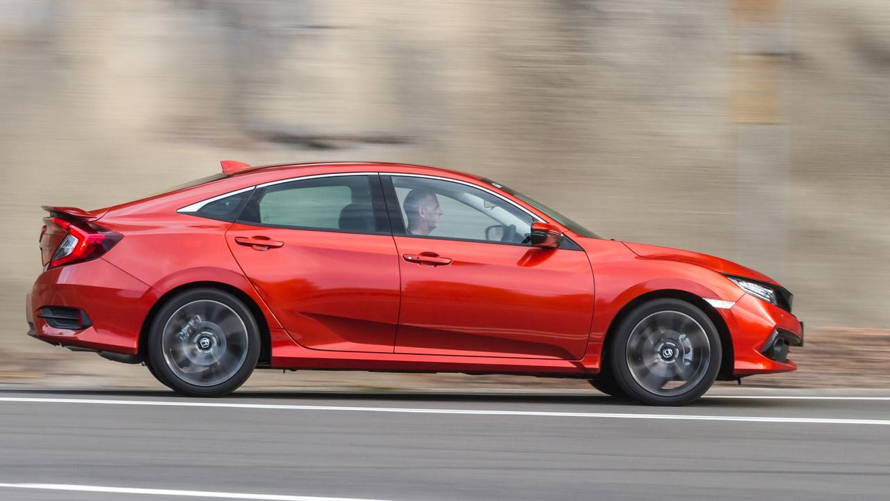 The Civic RS has plenty of sporty styling touches.