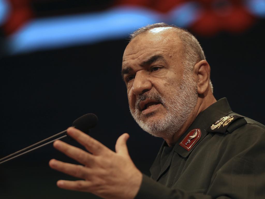 Iran's Revolutionary Guard Major General Hossein Salami says Iran is 'prepared for war'. Picture: AP