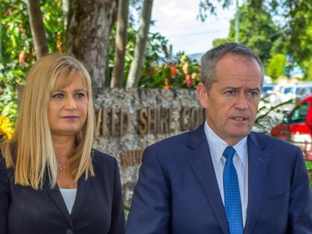 Richmond MP Justine Elliot with former Labor Opposition Leader Bill Shorten.