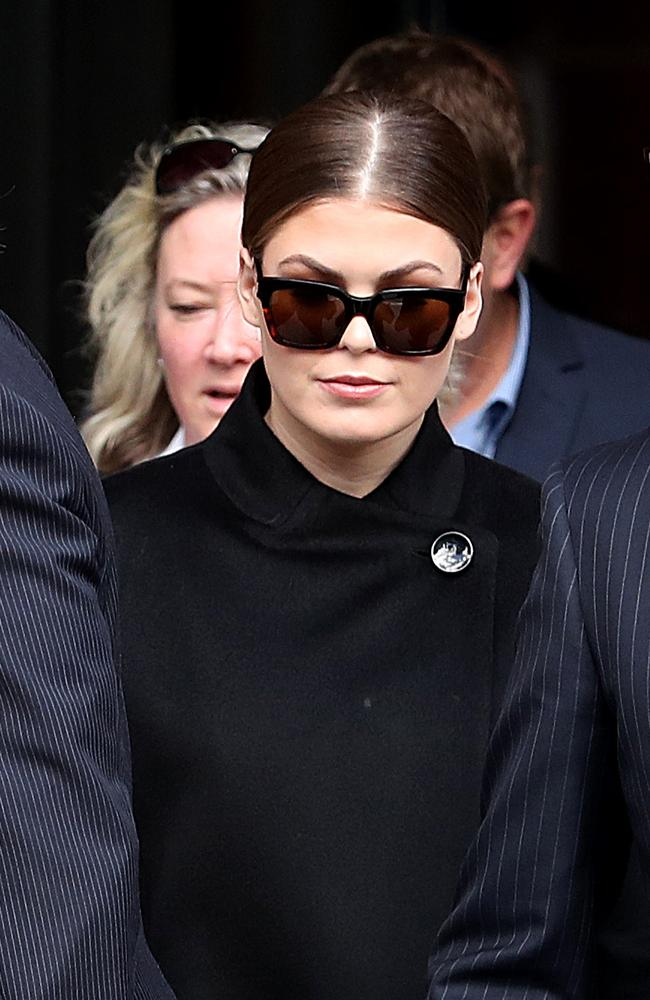 Fraudster Belle Gibson leaving the Federal Court in Melbourne. Picture: David Geraghty/The Australian.