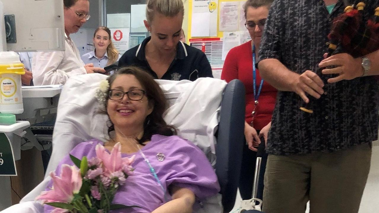 Hospital staff pulled the wedding together in six hours. Photo: Facebook