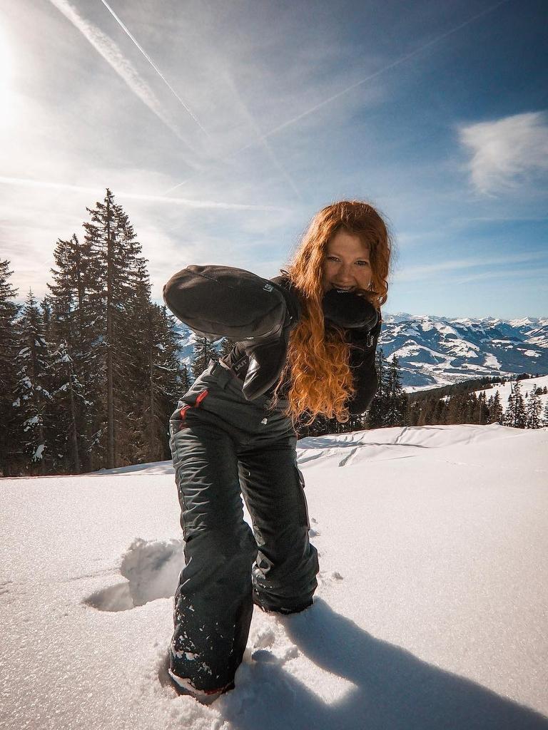 Enjoying the snow in Austria. Picture: Jam Press
