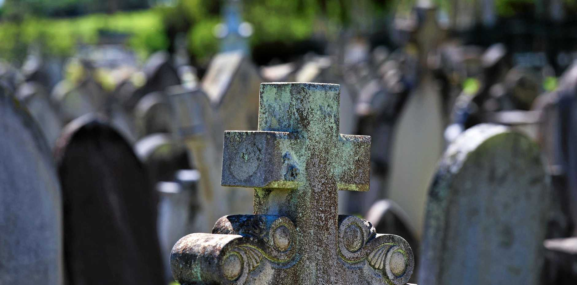 A Lockyer Valley cemetery is nearing capacity and is undergoing 'cut and fill' operations to prepare for expansion.