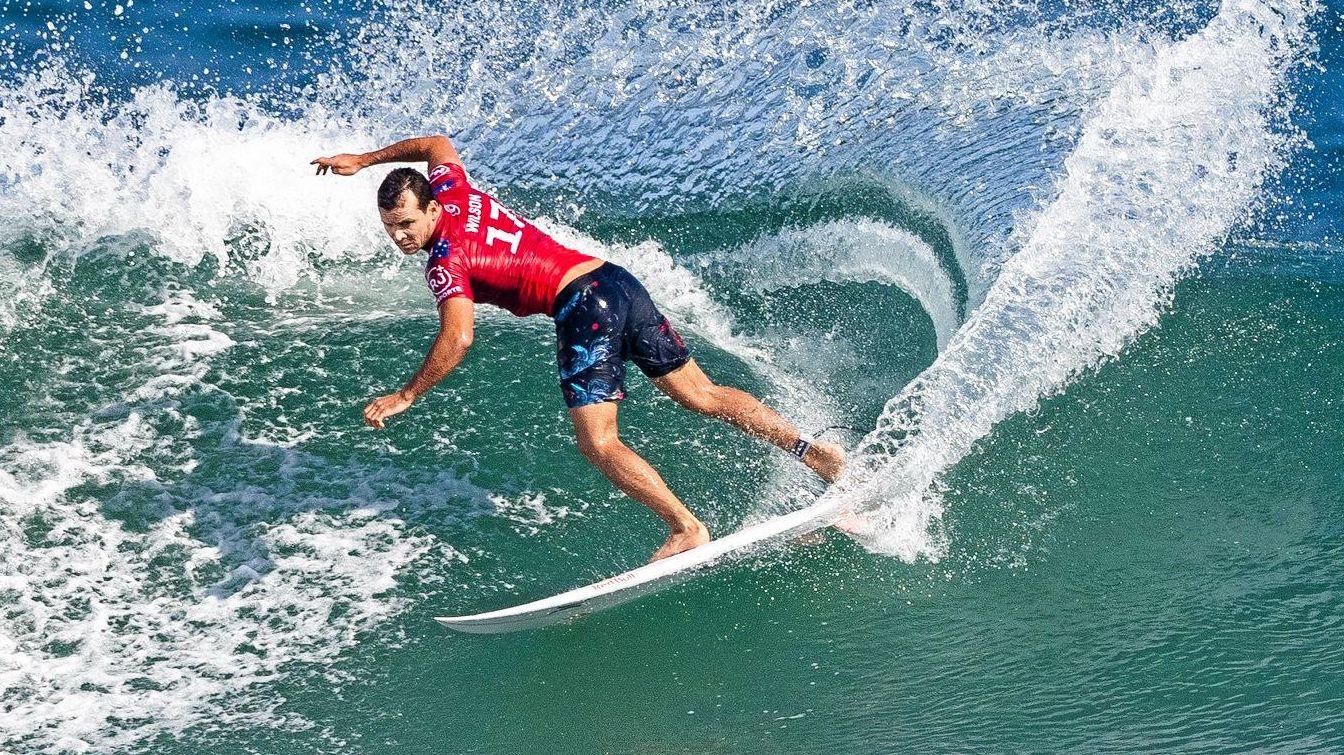 Julian Wilson of Australia advances to Round 4 of the 2019 Oi Rio Pro after winning Heat 7 of Round 3 at Itauna Beach, Saquarema on June 21, 2019 in Rio de Janeiro, Brazil.