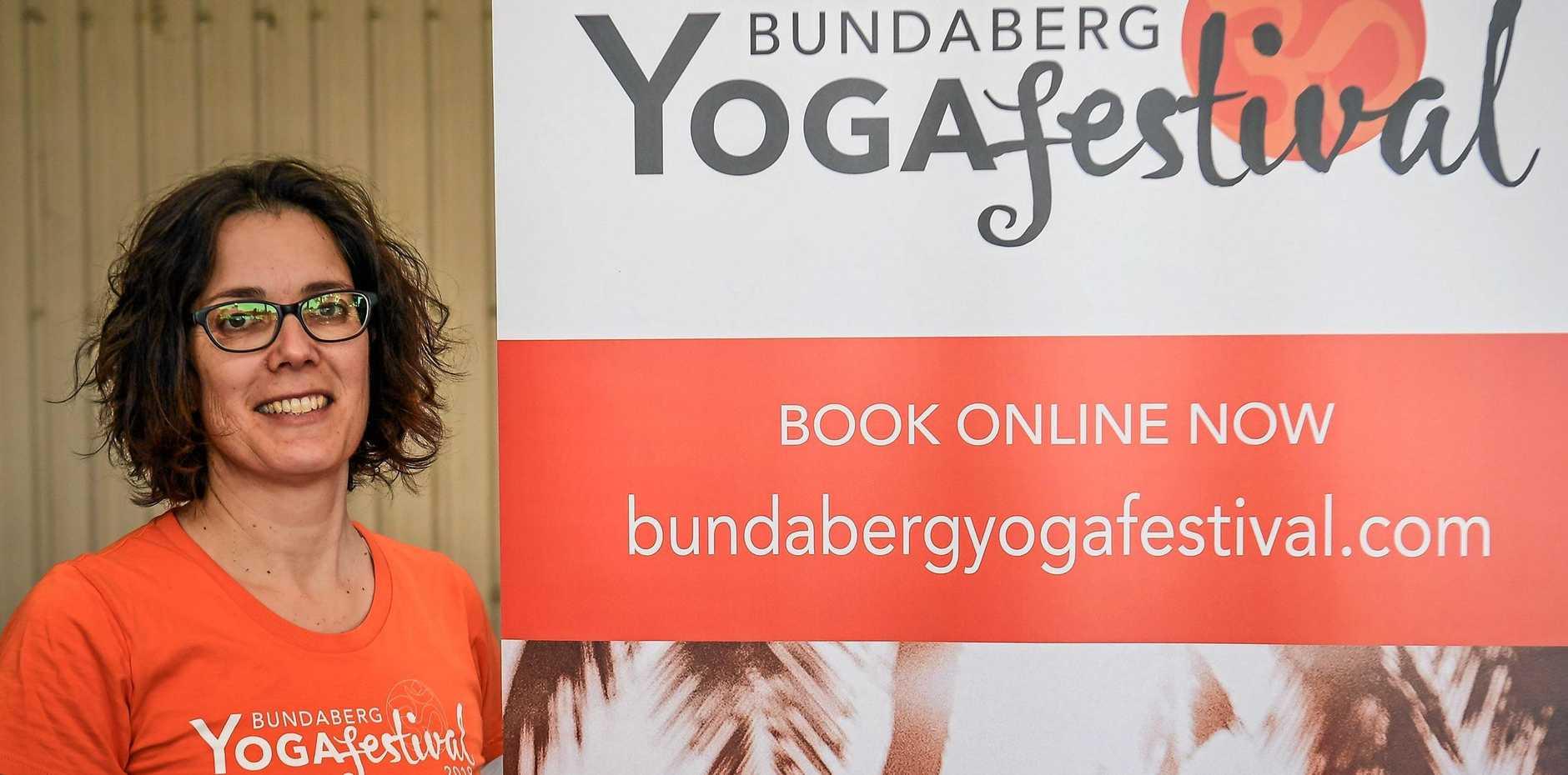 BIG HIT: Organiser of the Bundaberg Yoga Festival, Tamar Boas.