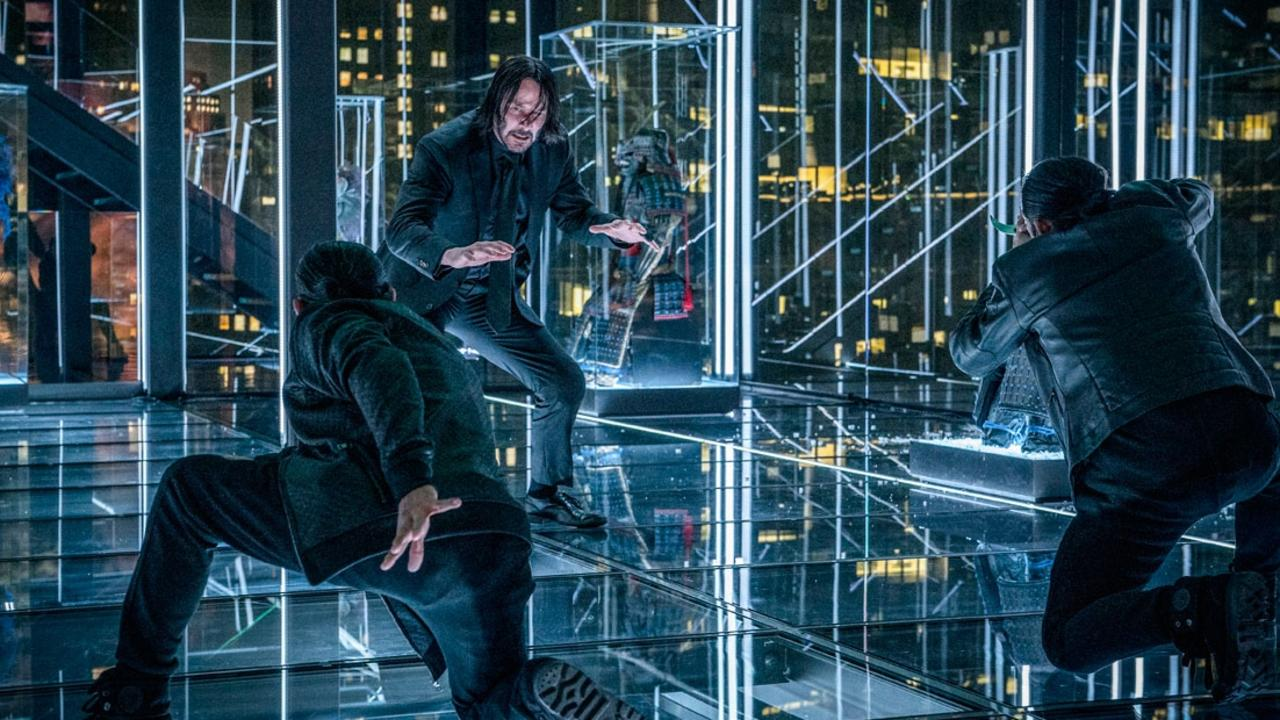 Reeves in a scene from the film John Wick: Chapter 3.
