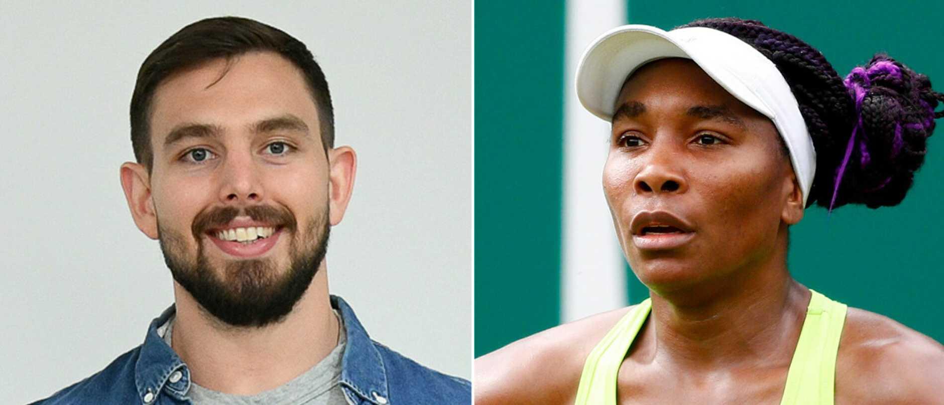 Nicky Hammond and Venus Williams.