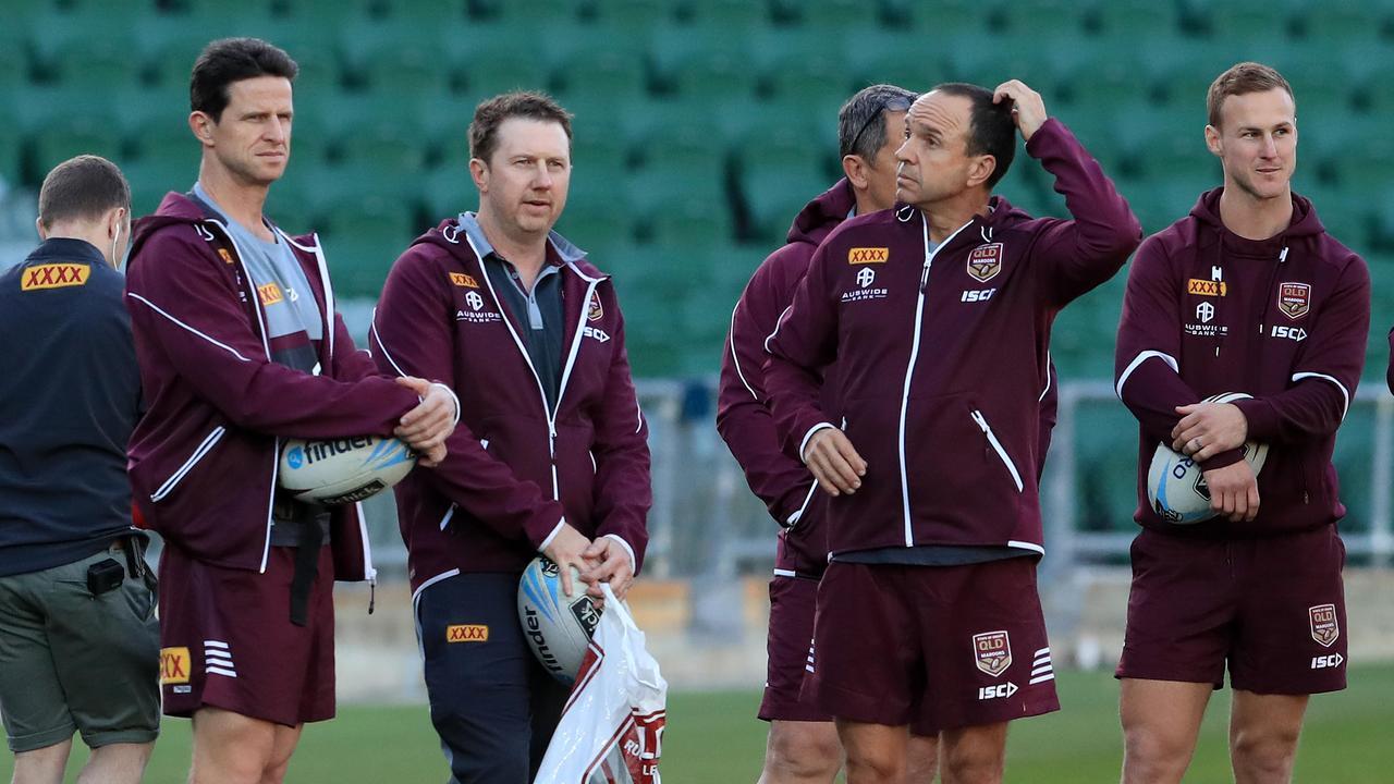 Dr Matt Hislop (far left) with his team in Perth. Picture: Adam Head