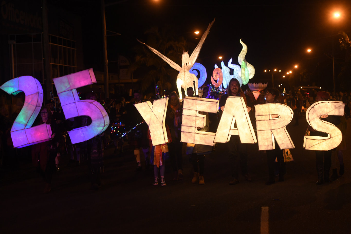 The 25th anniversary of the Lismore Lantern Parade.