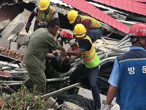 Building collapses in Cambodia, killing 17