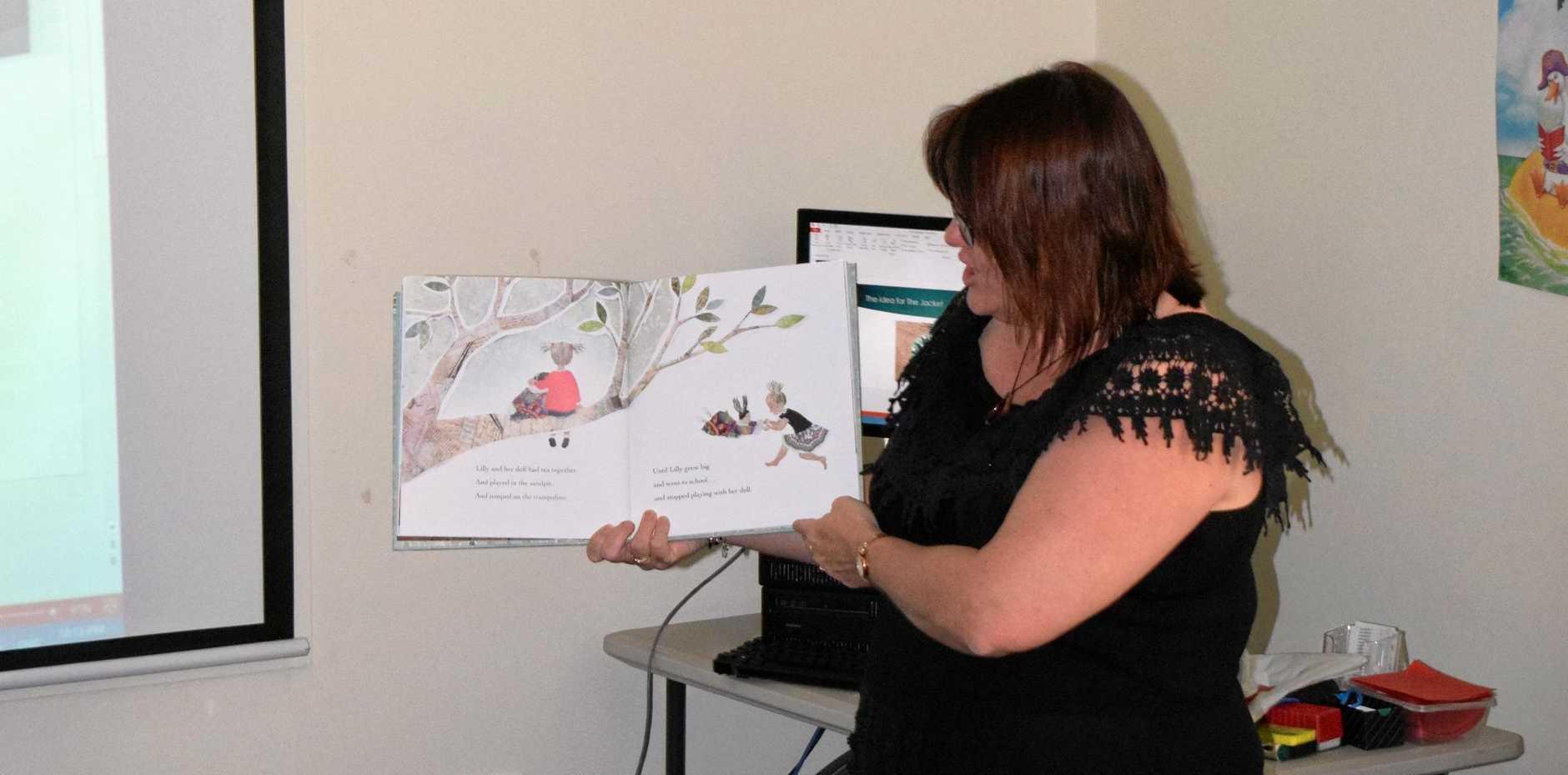 VISIT: Gladstone author of 'The Jacket' Sue-Ellen Pashley visited GWSS last week.