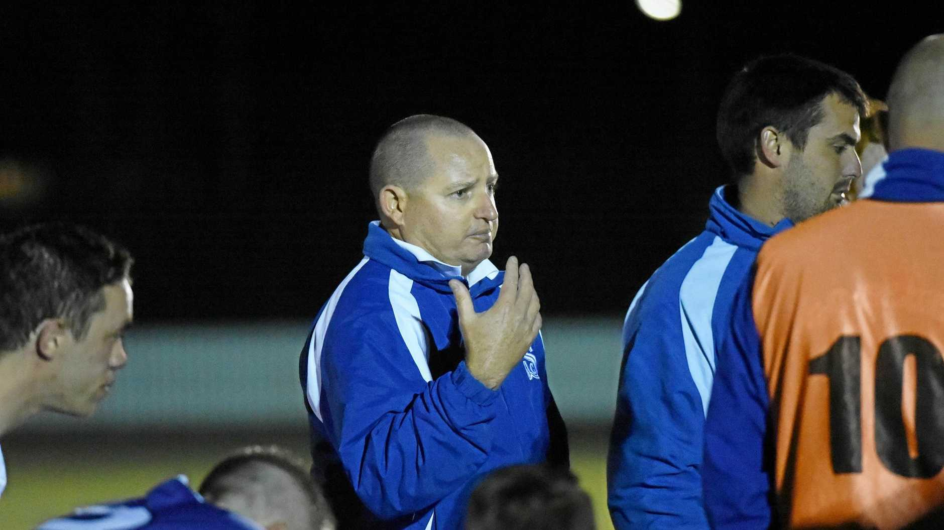 EMBARRASSED: Sunbury coach Andrew Howlett was fuming at his side's 6-1 defeat.
