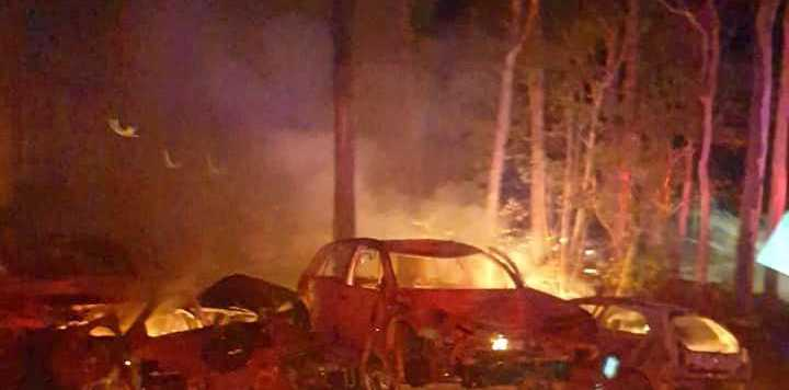 An investigation is under way after a bushfire broke out in Clearfield last night