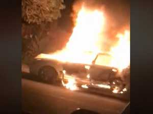 WATCH: Residents wake to raging car fire on quiet street