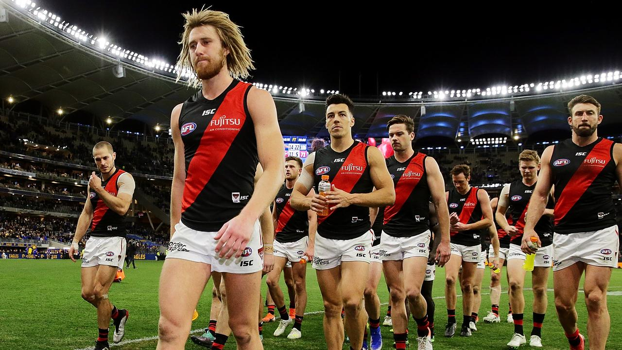 The Bombers don't appear to be good enought to play finals Picture: Getty Images