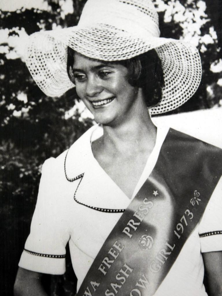 Murder victim Bronwynne Richardson in her sash as Miss Corowa Show Beauty Queen. File picture