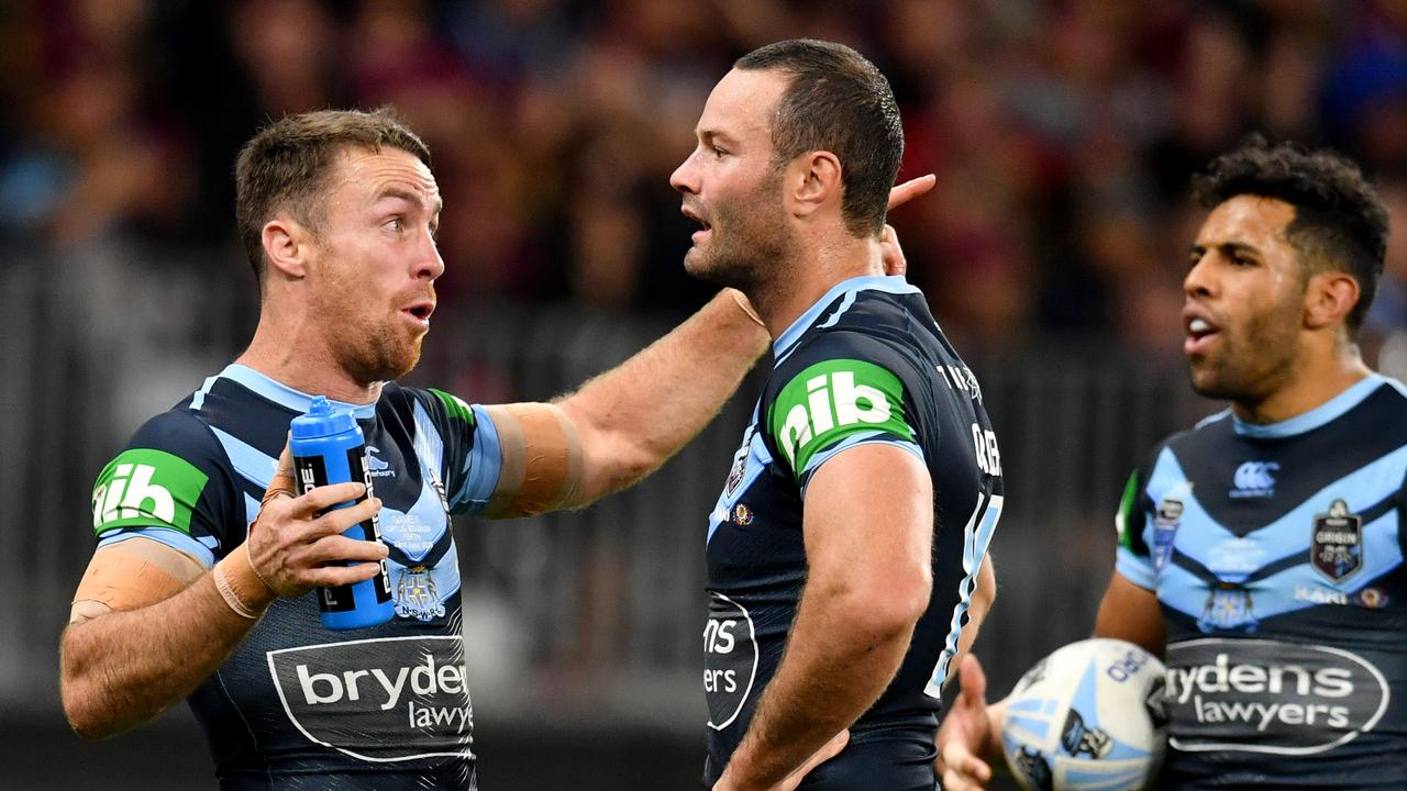 James Maloney (L) was sensational after being recalled by the Blues. Picture: AAP