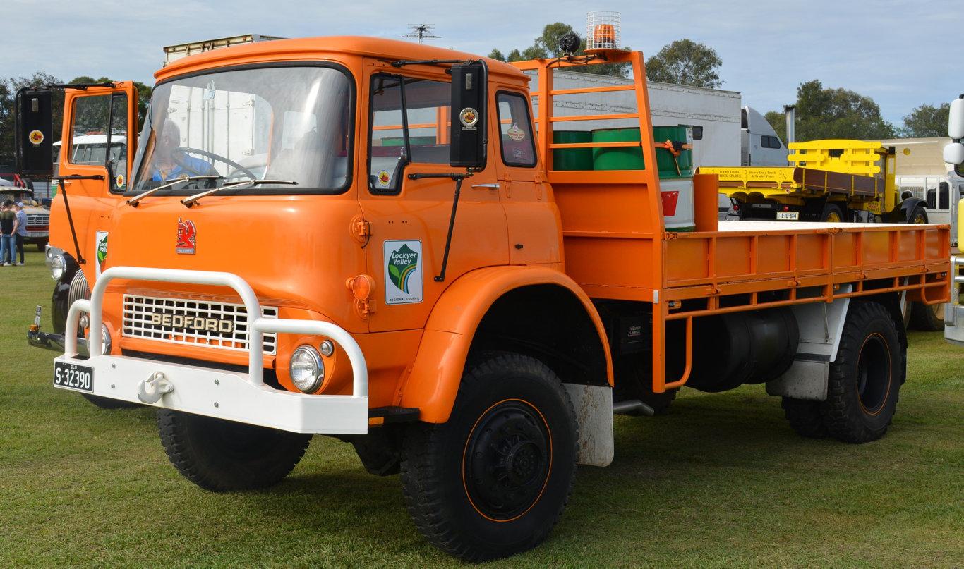 The orange Bedford on display at Rocklea