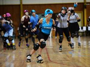Roller derby: Skate of Origin 2019 blues skater