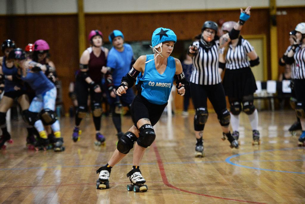 Image for sale: Roller derby: Skate of Origin 2019 blues skater Arrriba.