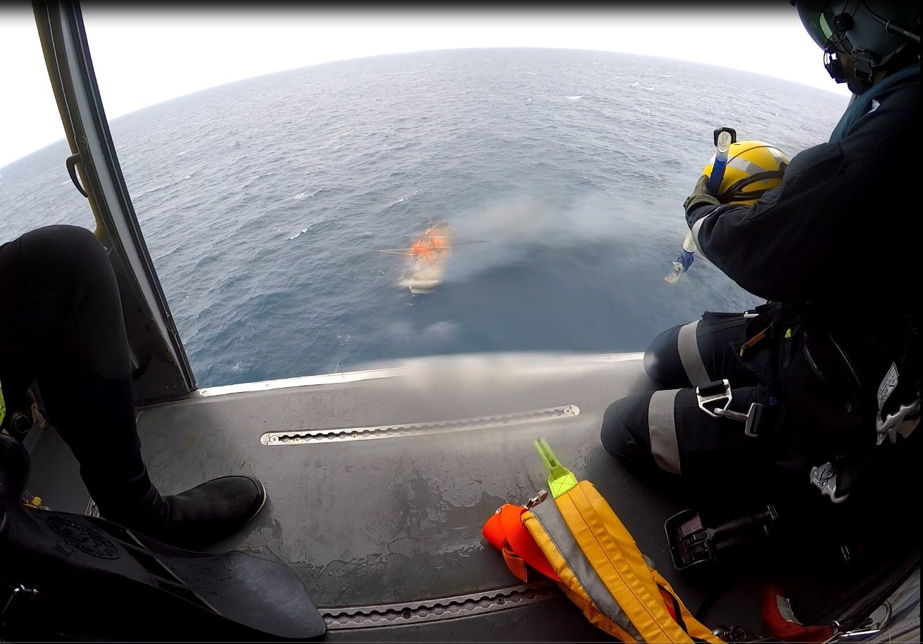 RACQ Capricorn Helicopter Rescue Service flew a man in his 70s to hospital, after he was one of the 14 people on board a charter boat which caught fire off Gladstone's coast.