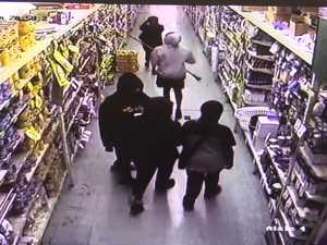 CCTV of attack on staff