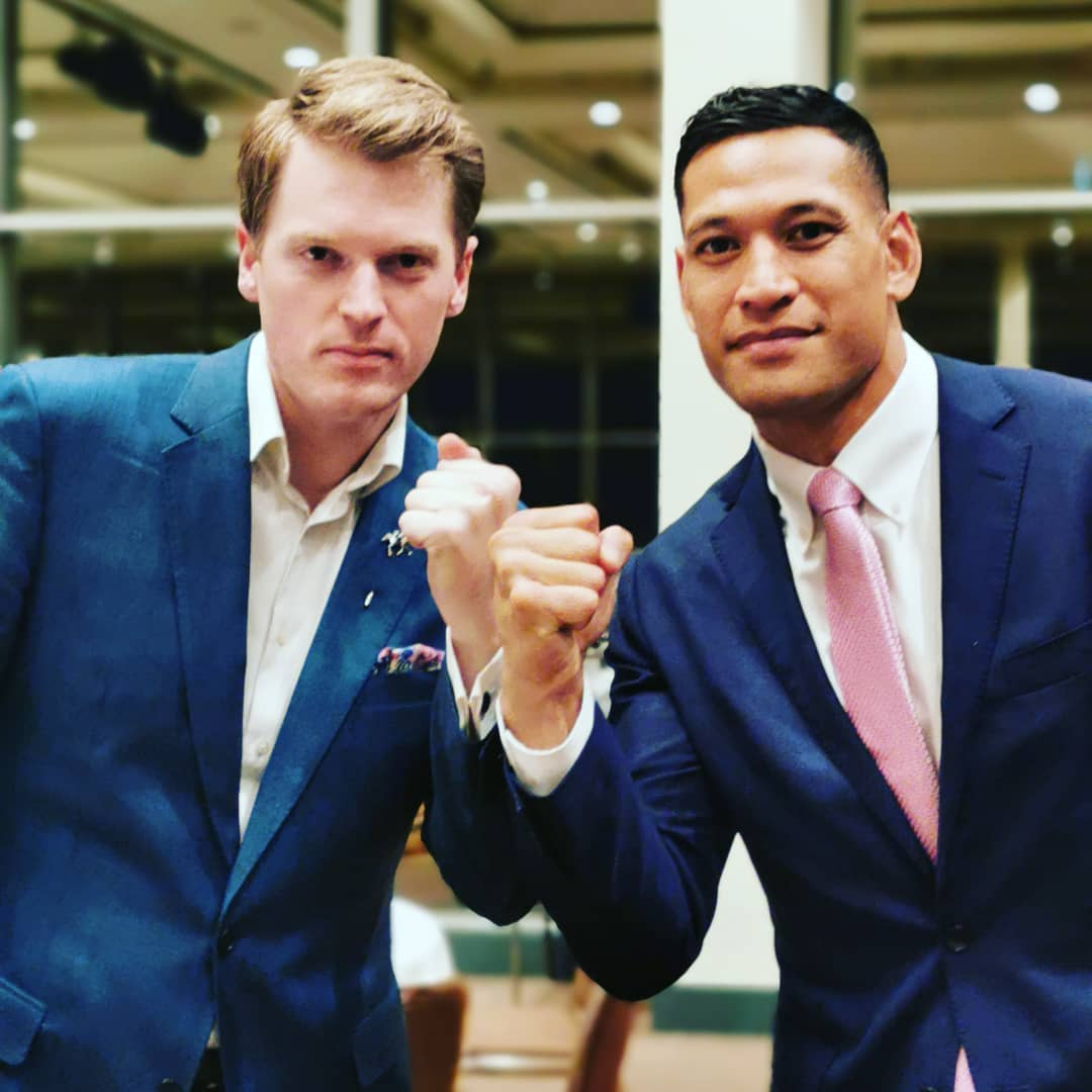 Israel Folau is being supported by the Australian Christian Lobby, headed by Martyn Iles.