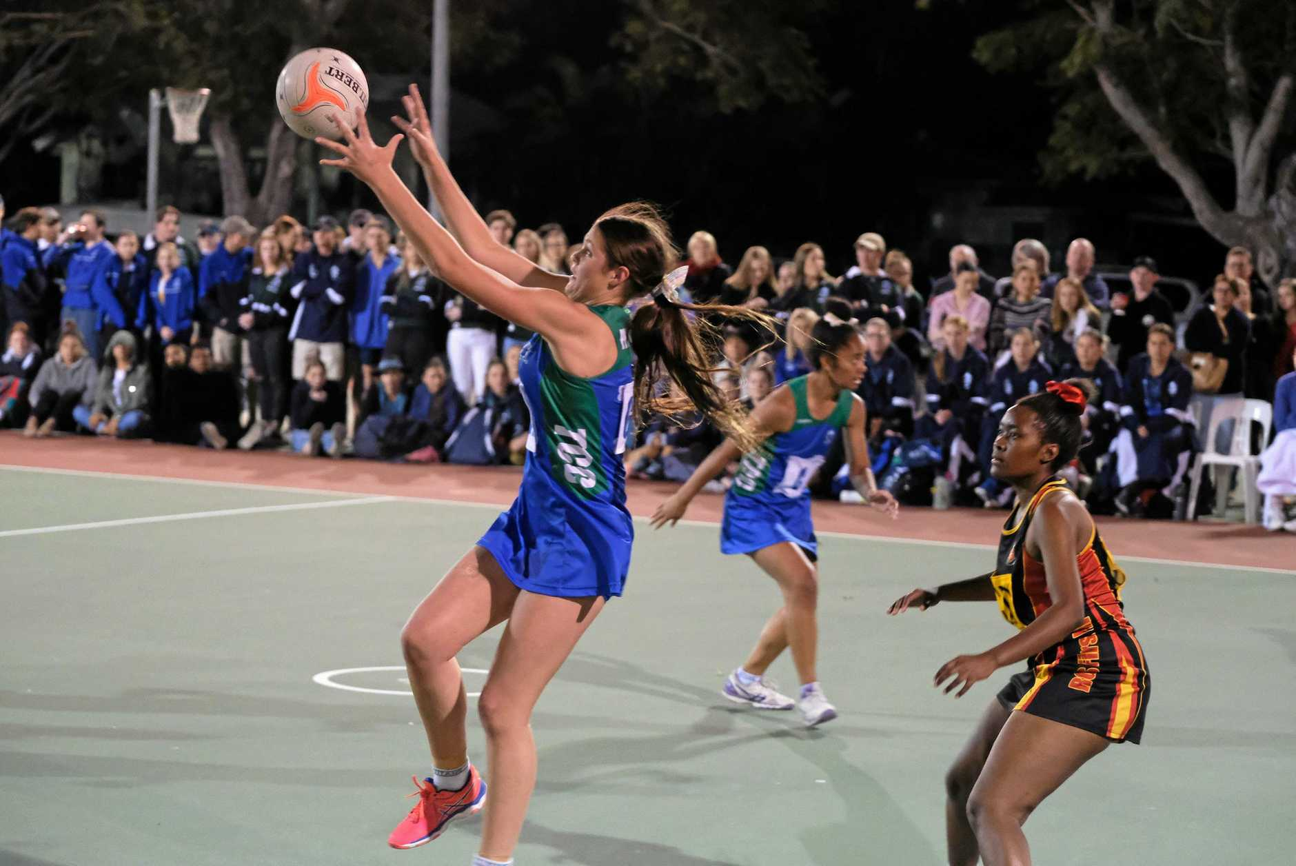 The Cathedral College's Lilly Peachey in Friday's grand final.