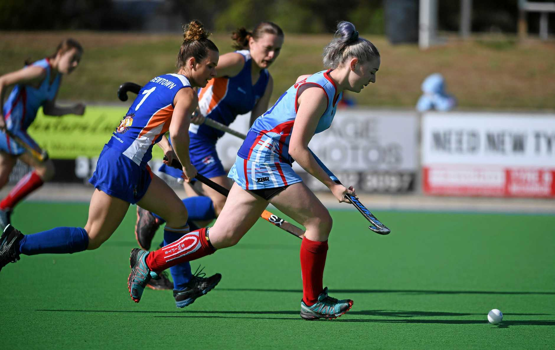 A-grade combined hockey competition played between Swifts and Newtown at the Ipswich Hockey Complex on Sunday.