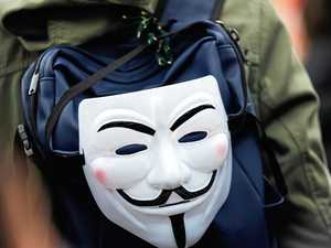 Figures in Anonymous masks culprits in bizarre theft