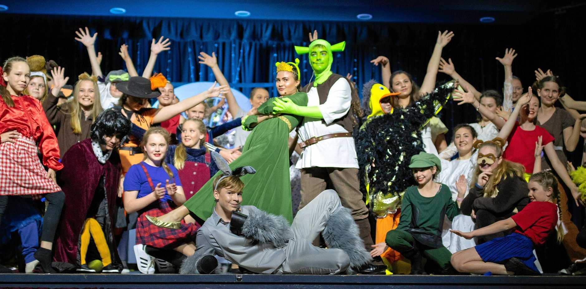 Saint Mary's All Star Shrek the Musical cast.