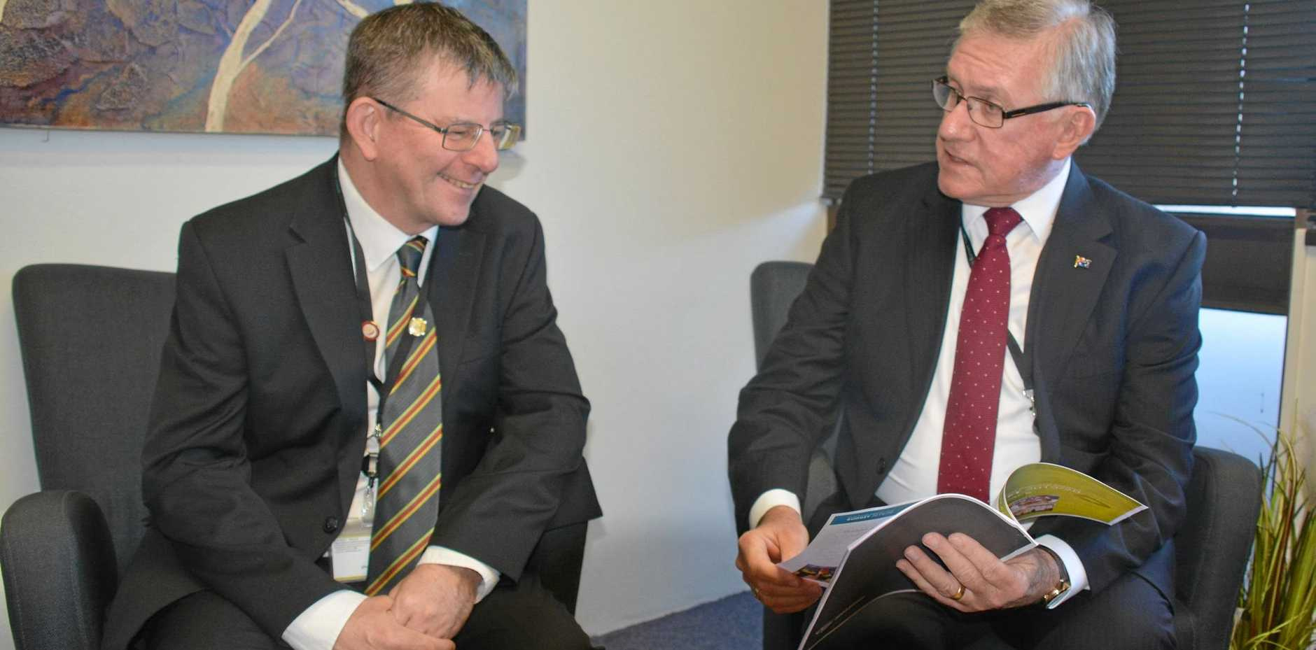 BUDGET TIME: South Burnett Regional Council CEO Mark Pitt and Mayor Keith Campbell discuss the 2019/20 council budget.