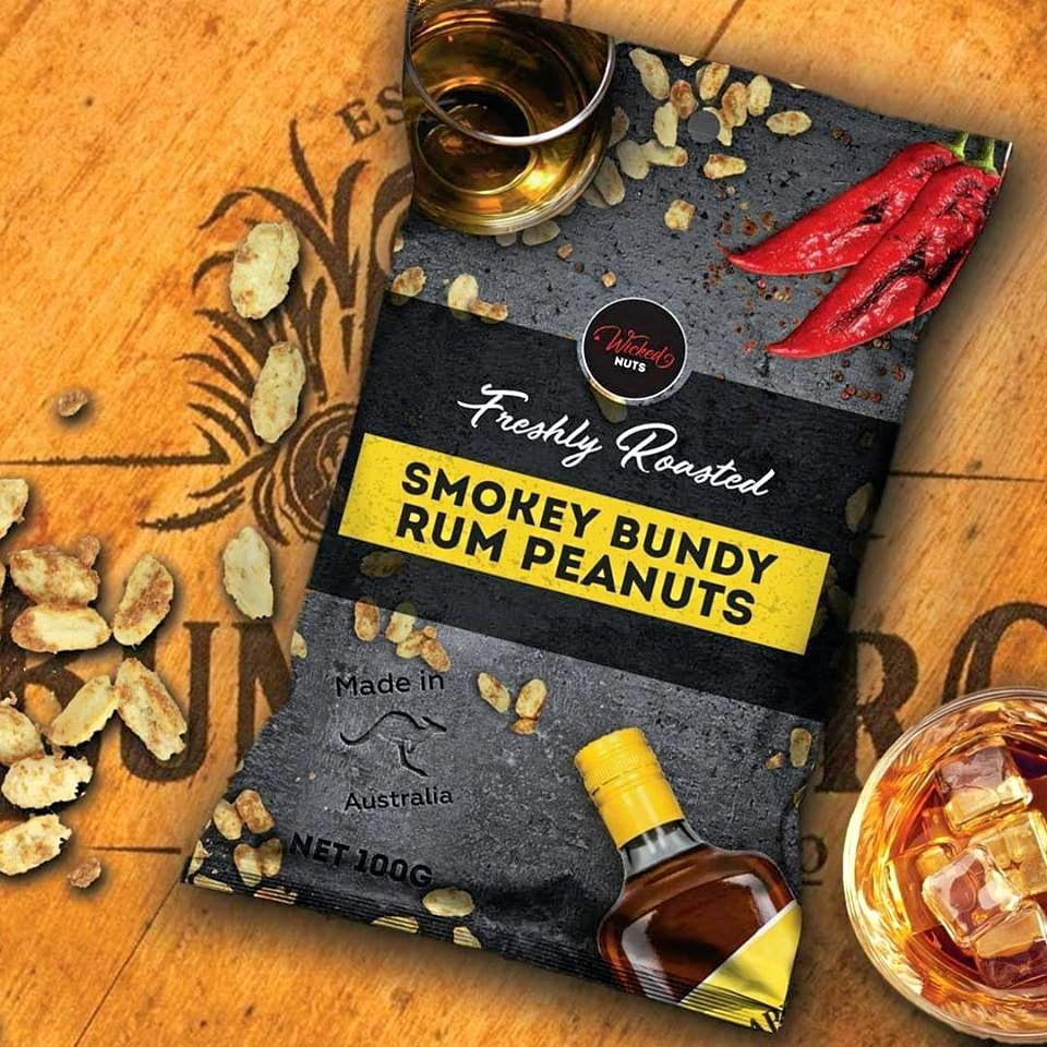 GOING NUTS: The Bundy Rum-infused peanuts by Wicked Nuts have been a big crowd-pleaser in Queensland.