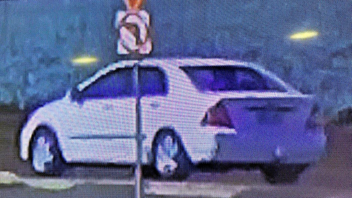White Toyota Corolla sedan, seen at a shed shooting incident at Robinsons Road, Gatton.