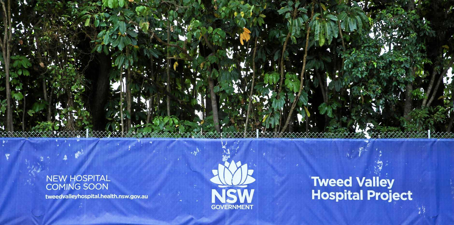 A security fence at the new Tweed Valley Hospital site at Cudgen.