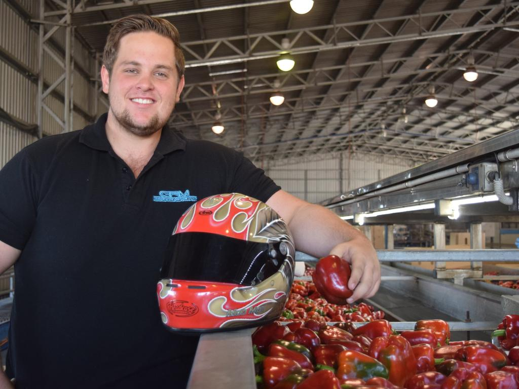 Guy Barbera's racing car driving son Mason has been a success in and out of the paddock. The 21-year-old runs M & R Farms while also holding down a career as promising Supercar driver. Picture: Supplied