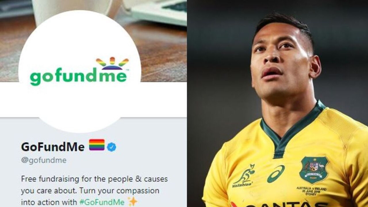 Israel Folau's GoFundMe was pulled down