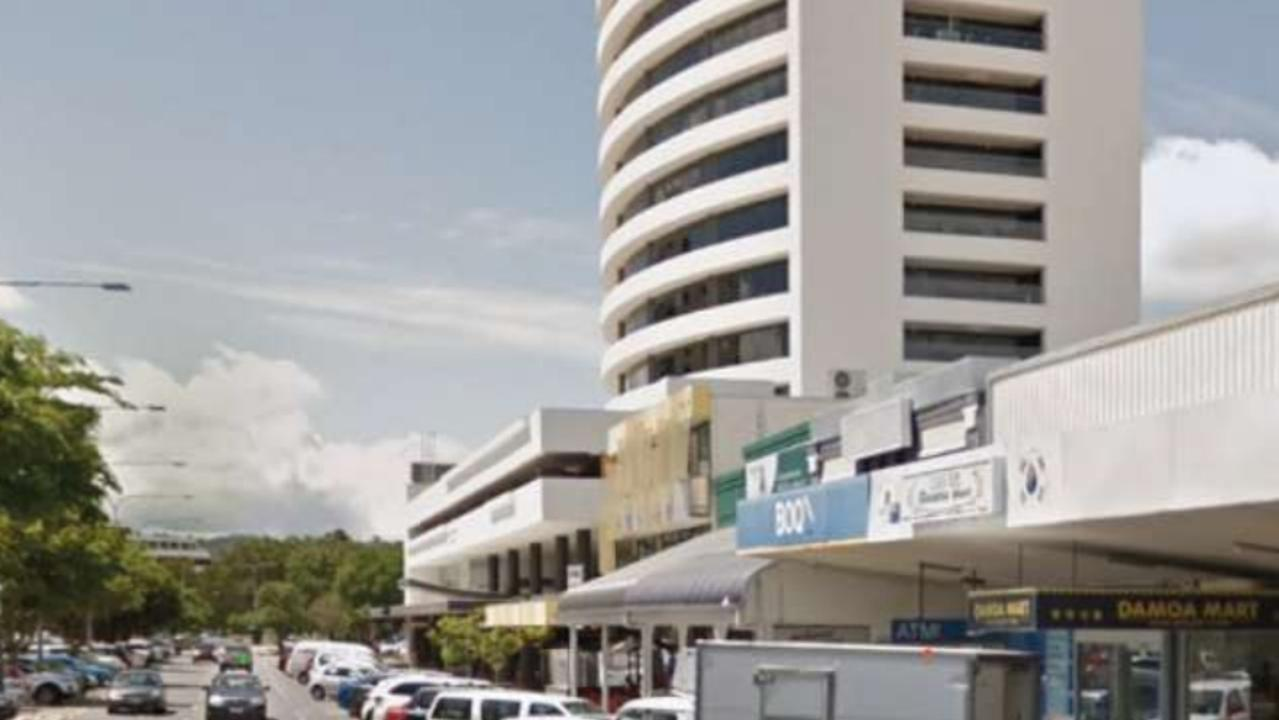 Staff in the Cairns Corporate Tower rushed to the fire escapes while the earthquake tremors hit. PICTURE: SUPPLIED