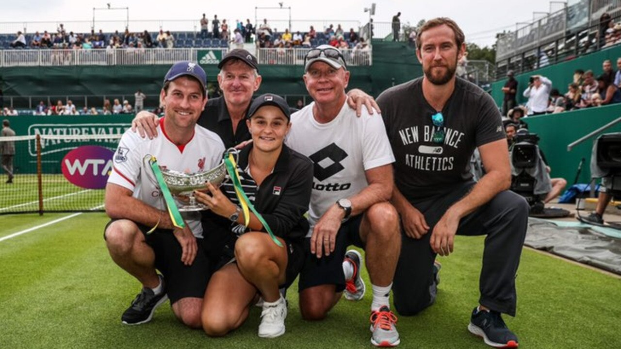 Ash Barty with her family. Picture: Twitter