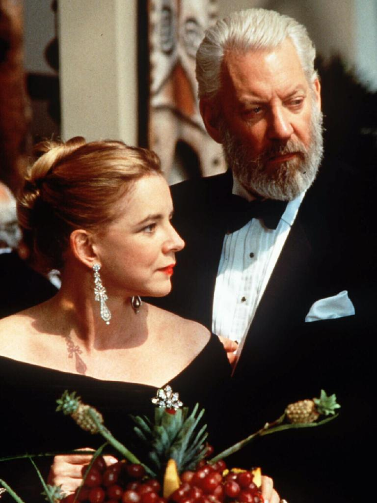 Actors Stockard Channing and Donald Sutherland in the film Six Degrees of Separation.