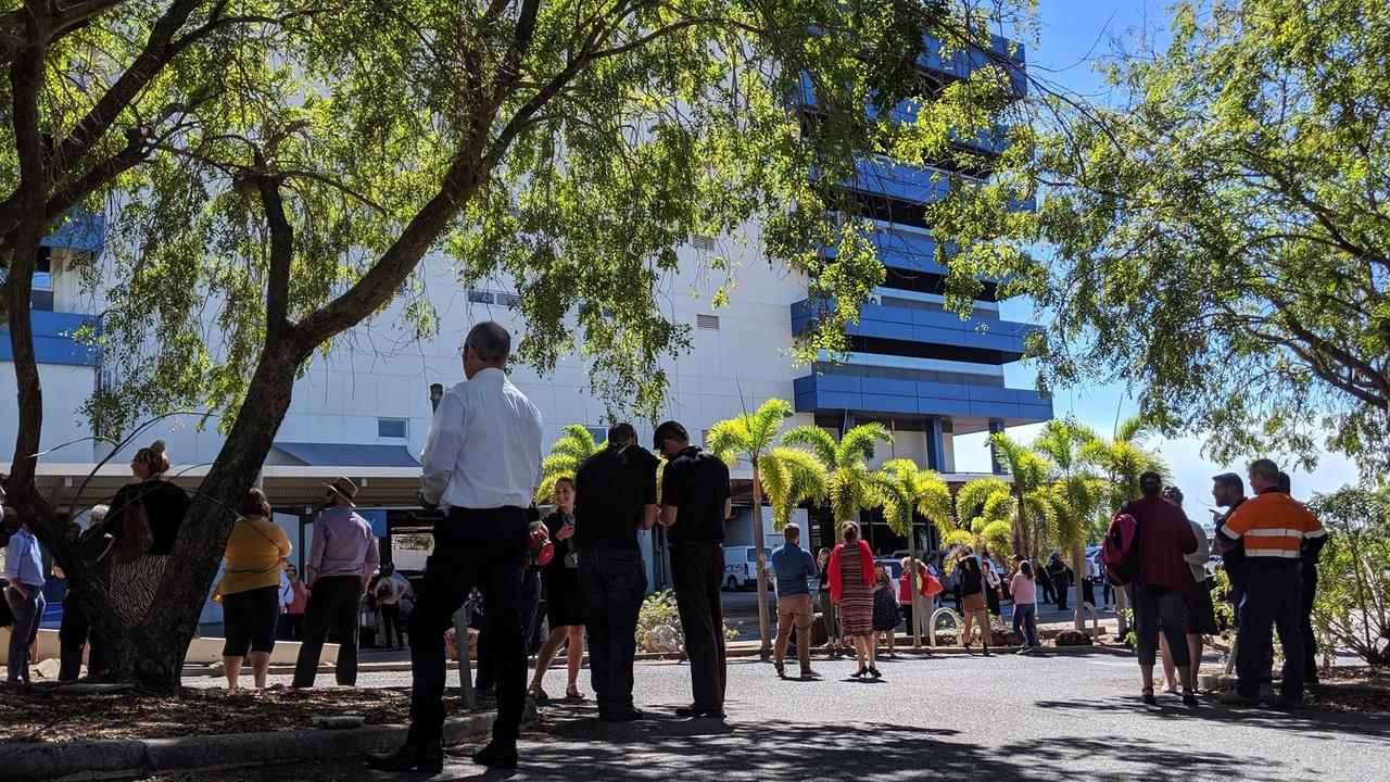 Patrons at Harbour View Hotel were evacuated during the earthquake. Picture: SUPPLIED