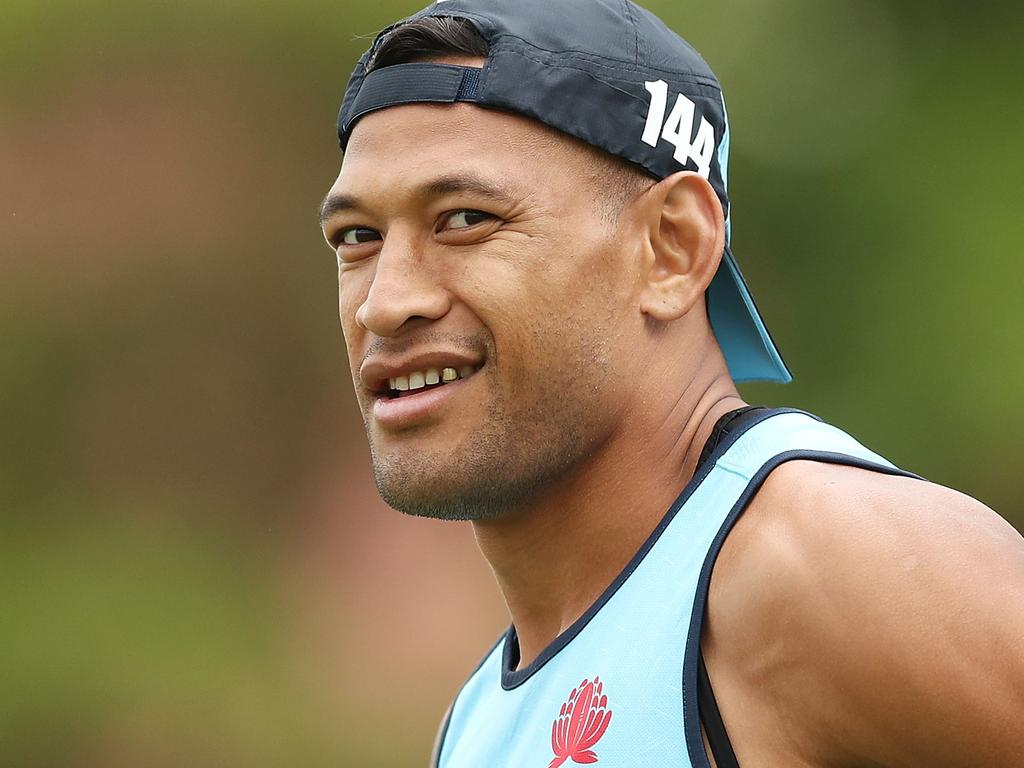 Israel Folau had his lucrative rugby contract terminated over the 'homophobic' tweet. Picture: Mark Metcalfe/Getty Images