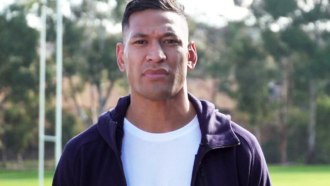 Israel Folau has hit back at the decision to remove his fundraising page. Picture: YouTube