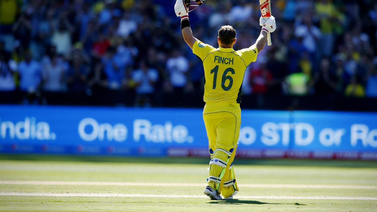 Aaron Finch will be hoping for a repeat of his 2015 destruction when the sides meet at Lord's.