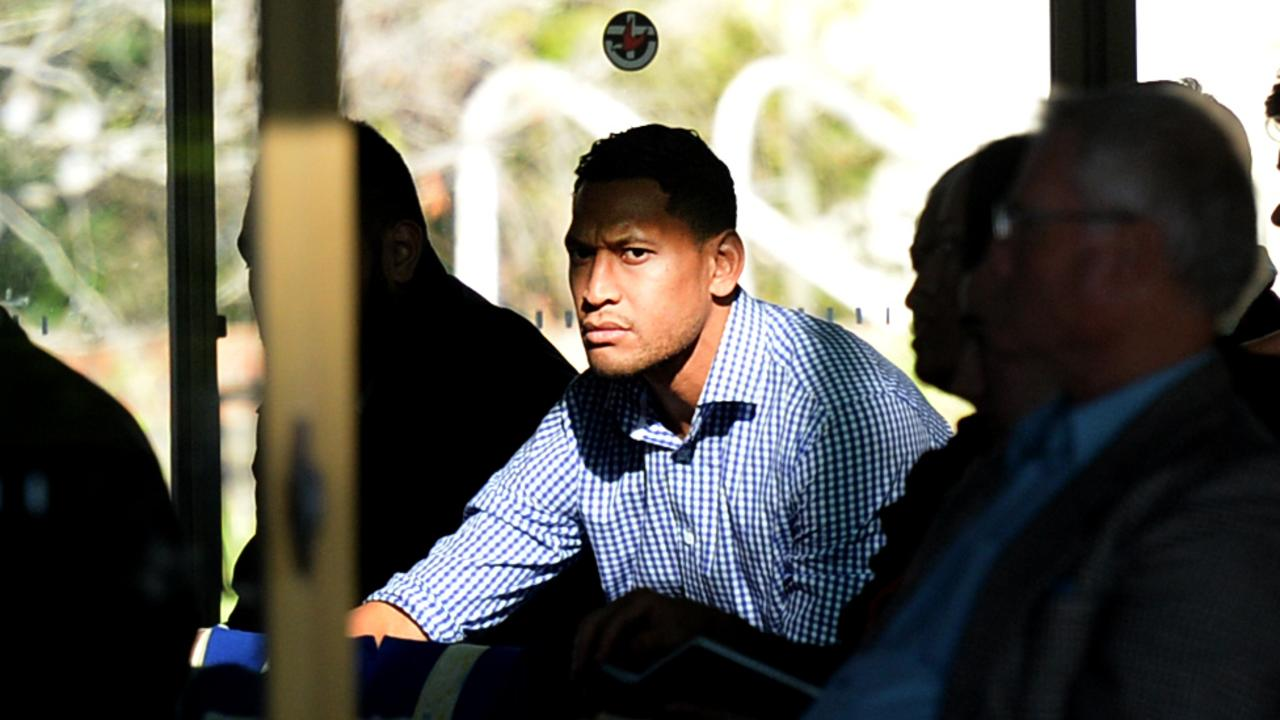 Folau attends Sunday Mass at The Uniting Church. Picture: Jeremy Piper